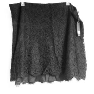 BB Dakota black lace midi skirt